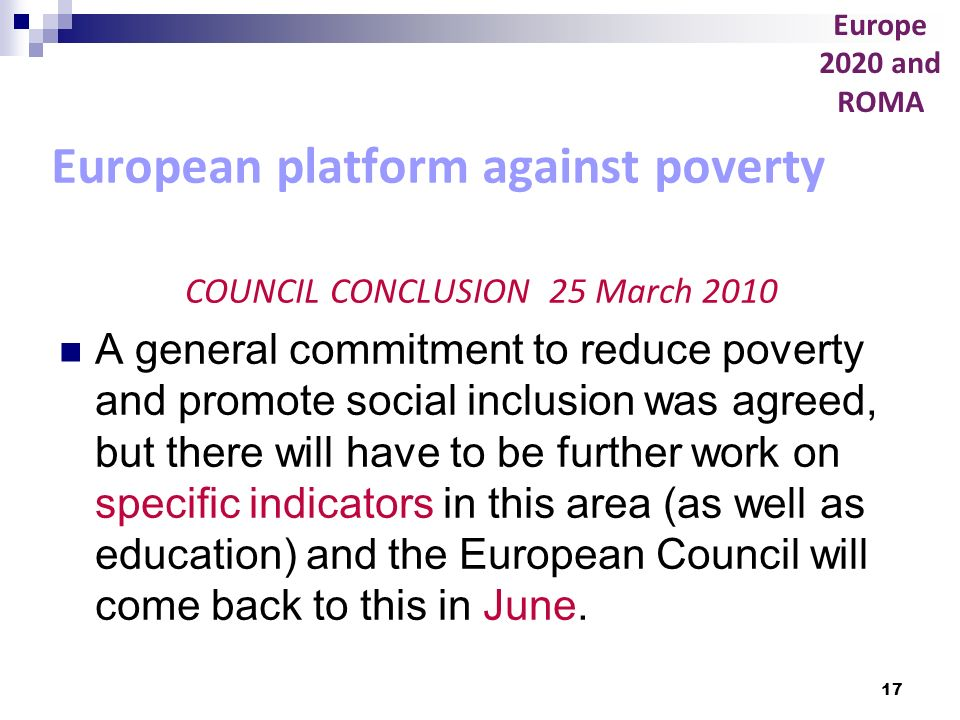 European platform against poverty