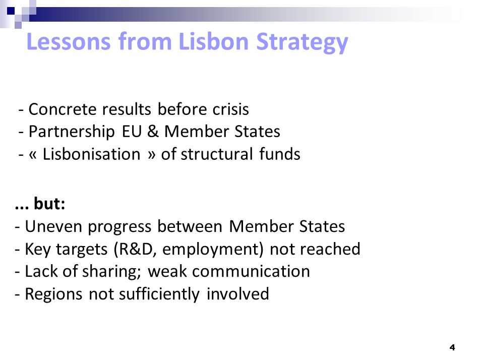 Lessons from Lisbon Strategy