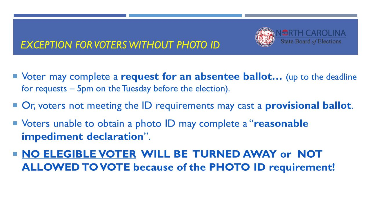 PREPARING FOR VOTER ID IN ppt download