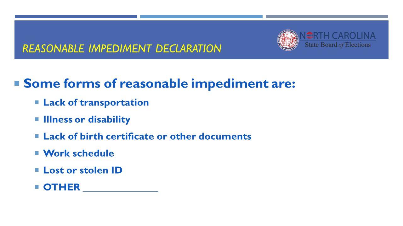 Preparing for voter id in ppt download 15 reasonable impediment declaration xflitez Images