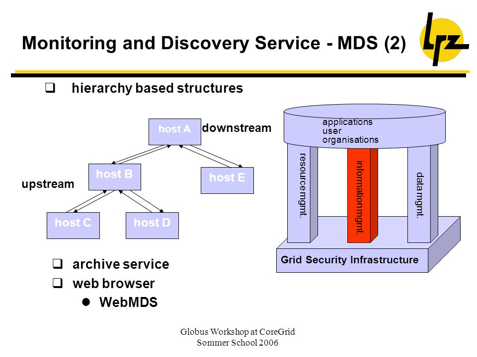 Monitoring and Discovery Service - MDS (2)