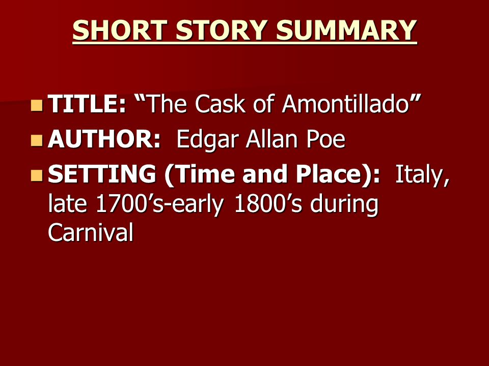 crime and punishment in edgar allan poes short stories 2012-9-20  crime and moral depravity  the cask of amontillado ranks as one of poe's finest stories originally published in  and works of edgar allan poe: a.