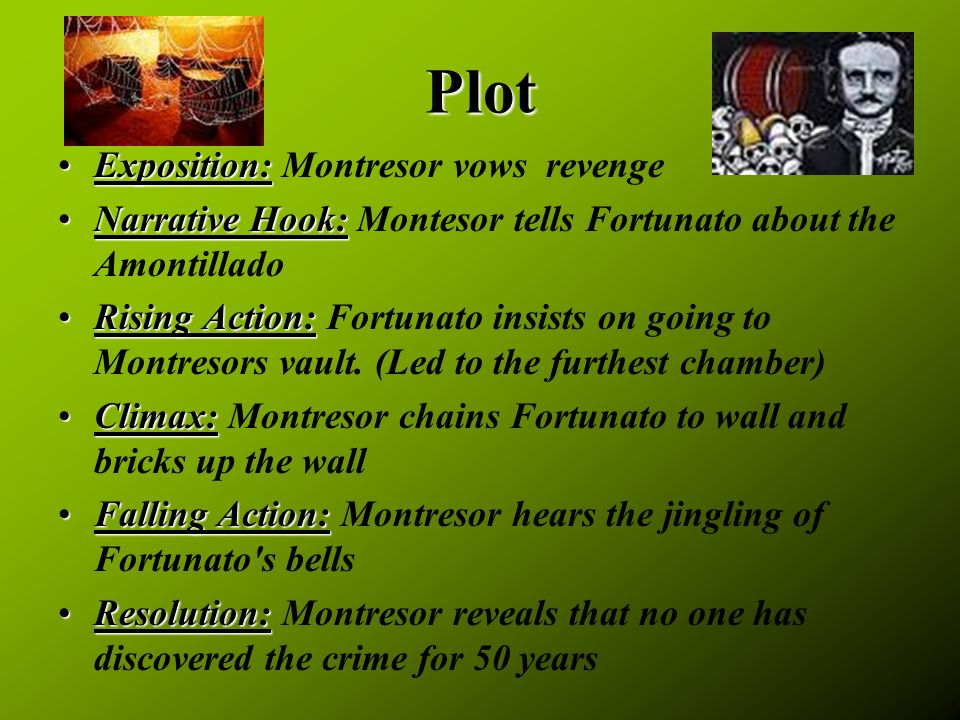 montresor essay Cask of amontillado: character analysis paper write a five paragraph character analysis paper choose which character you want to analyze: montresor or.