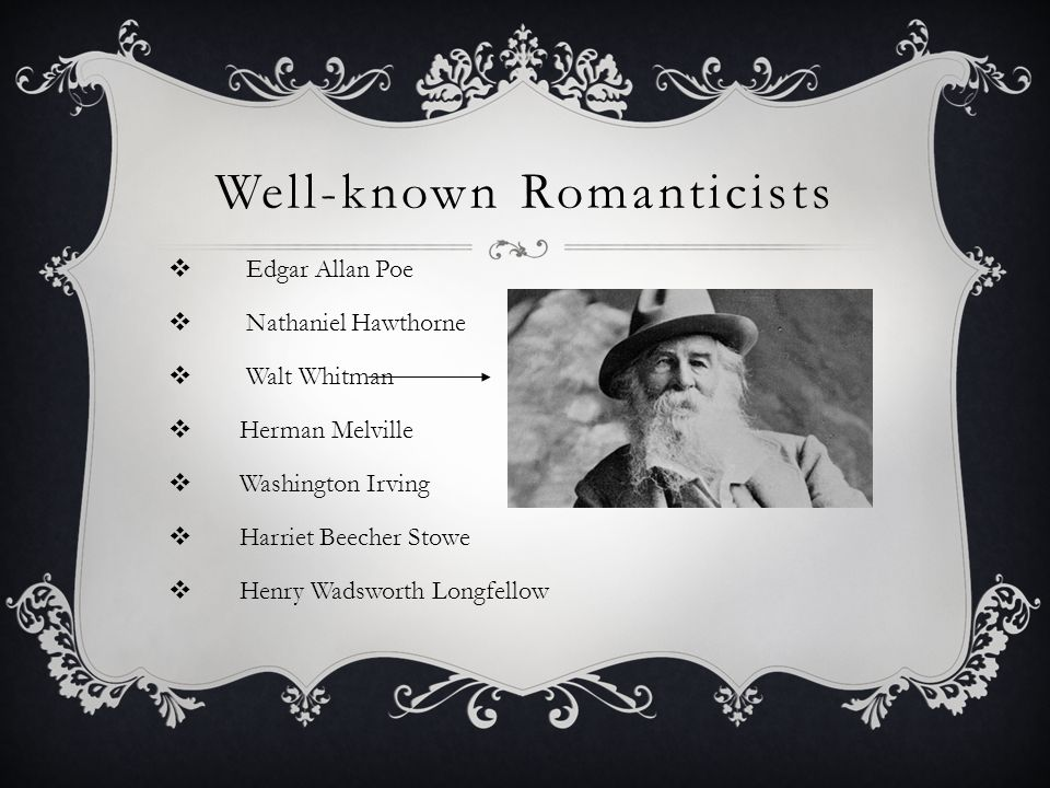 Well-known Romanticists