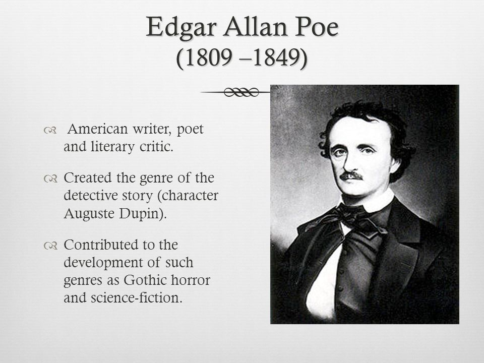 an analysis of the edgar allan poes development of characters The raven by edgar allan poe: summary and analysis the raven by edgar allan poe is a narrative of a young man who is bereaved by the death of the woman he loved.