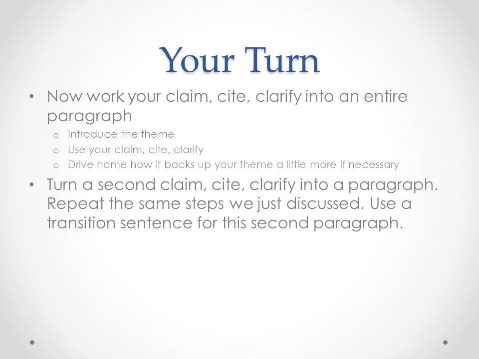 how to turn one sentence into a paragraph
