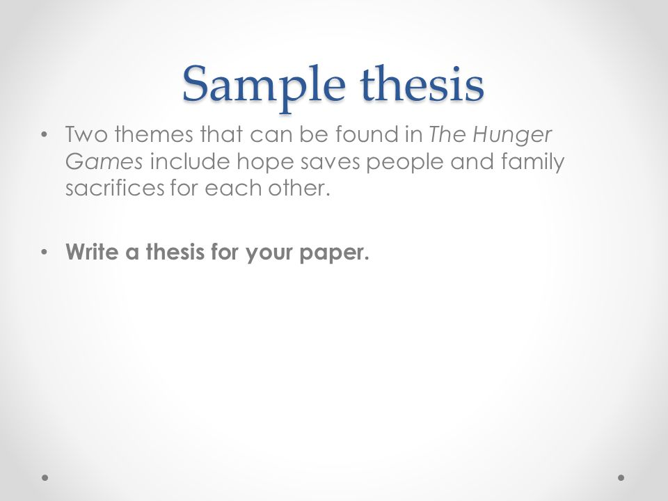 Thesis how to write chapter 2
