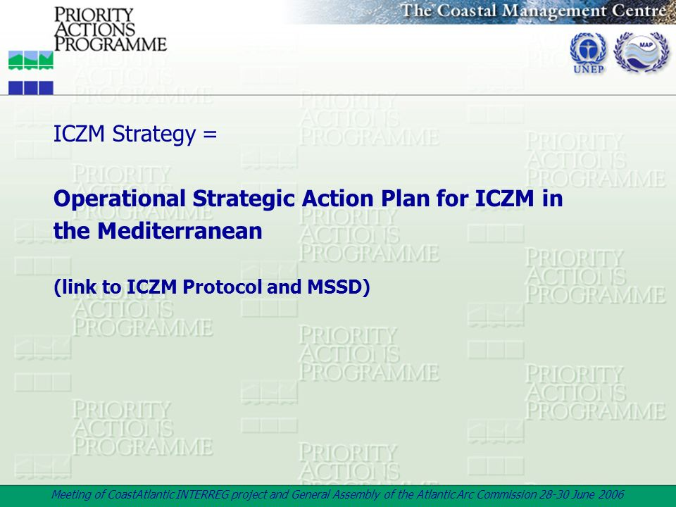 Operational Strategic Action Plan for ICZM in the Mediterranean