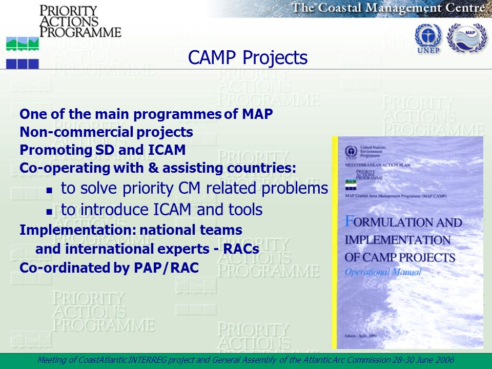 CAMP Projects to solve priority CM related problems