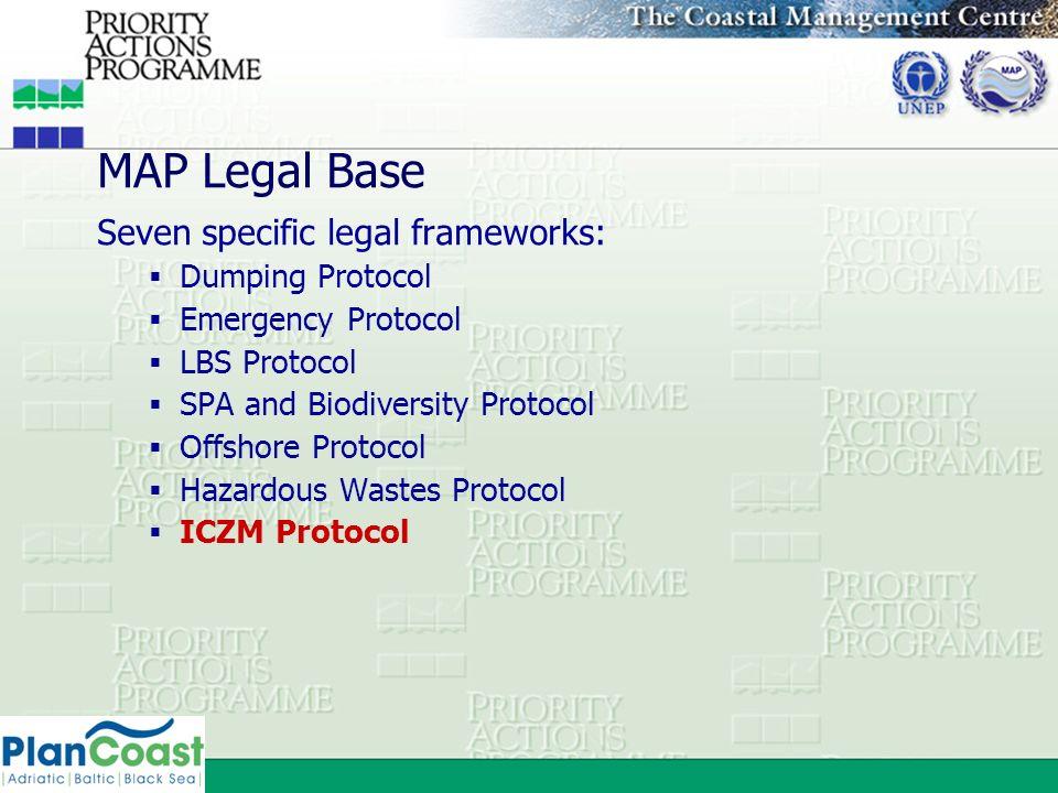 MAP Legal Base Seven specific legal frameworks: Dumping Protocol