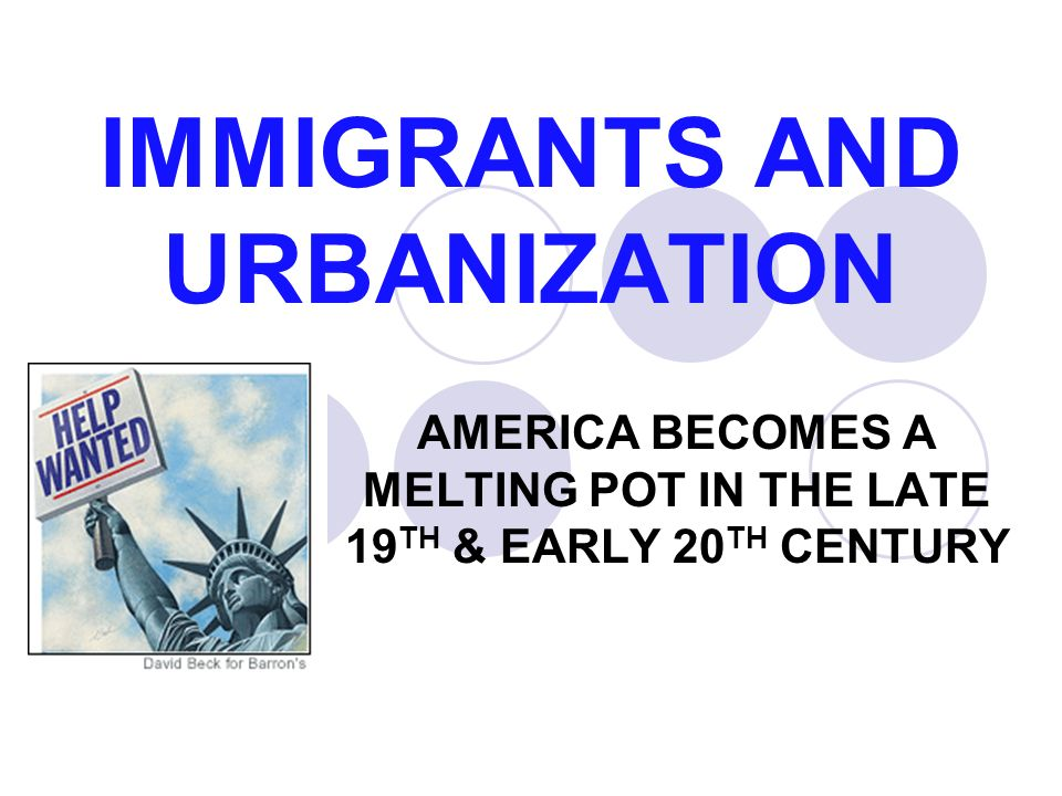 the immigration to the united states during the late 19th to early 20th century Us history unit 8 lesson urbanization increase in immigration to the united states in the late united states during the late 19th and early 20th century.