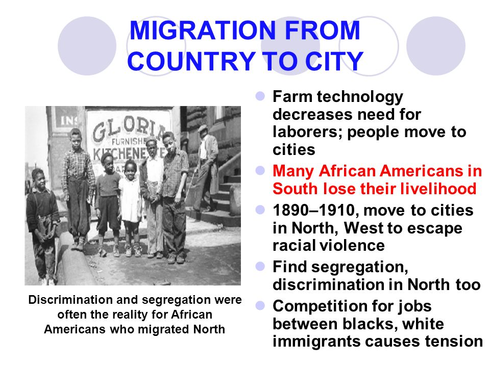 Causes of african american immigration