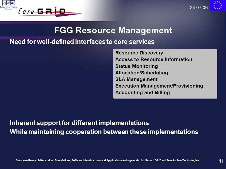 FGG Resource Management