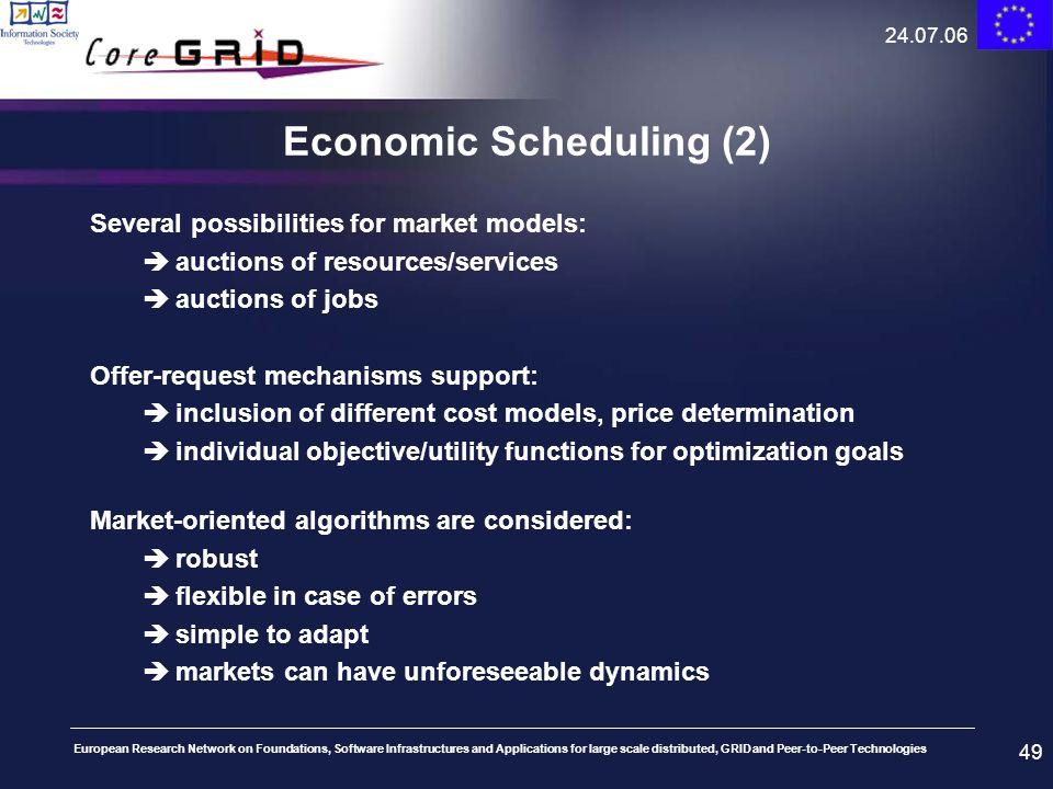 Economic Scheduling (2)