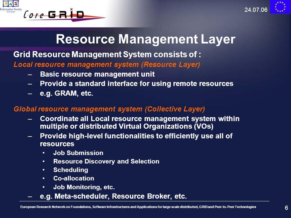 Resource Management Layer