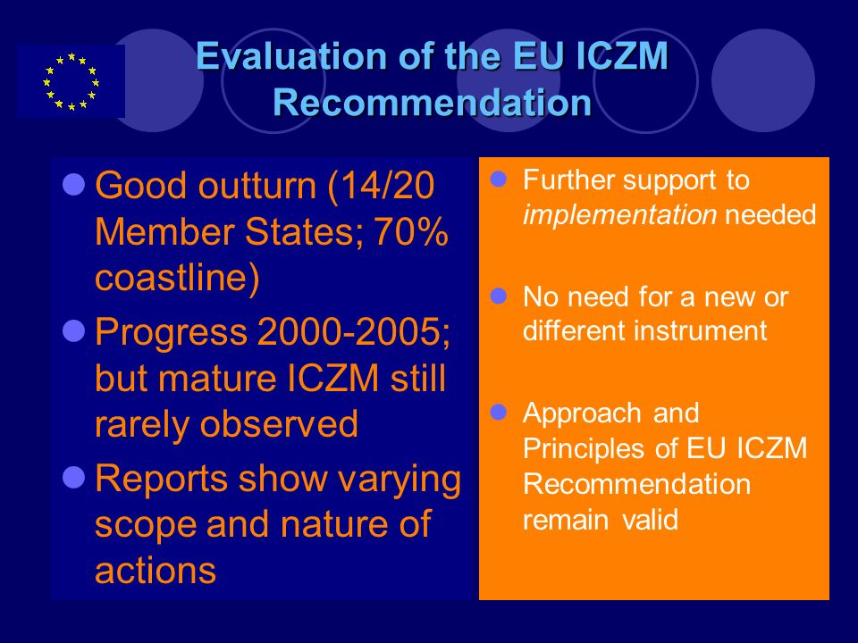 Evaluation of the EU ICZM Recommendation