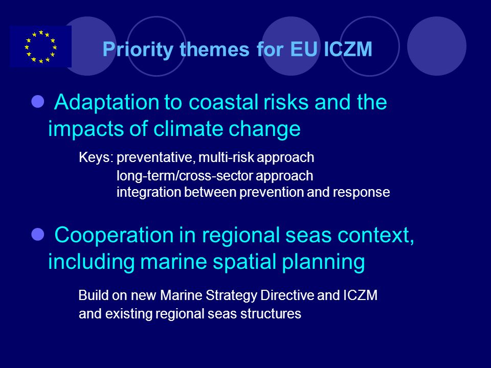 Priority themes for EU ICZM