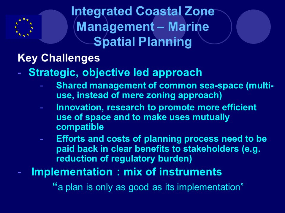 Integrated Coastal Zone Management – Marine Spatial Planning