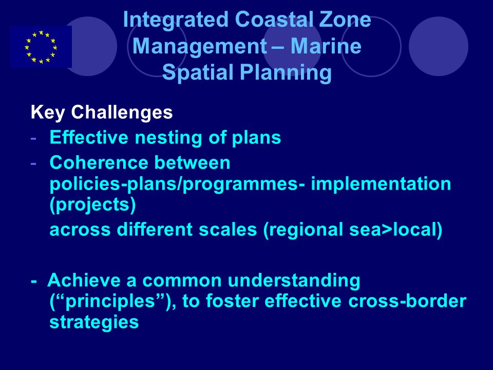 Integrated Coastal Zone Management – Marine Spatial Planning