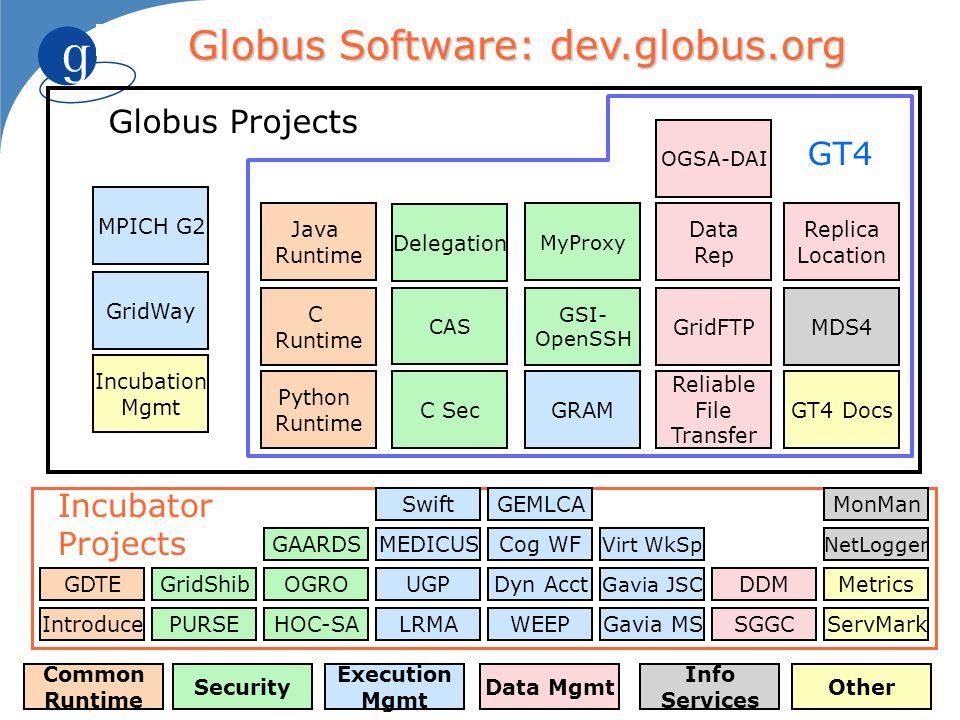 Globus Software: dev.globus.org