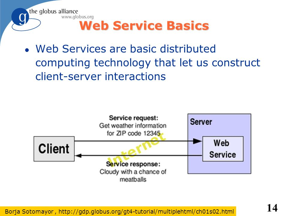Web Service Basics Web Services are basic distributed computing technology that let us construct client-server interactions.