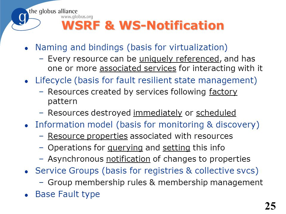 WSRF & WS-Notification