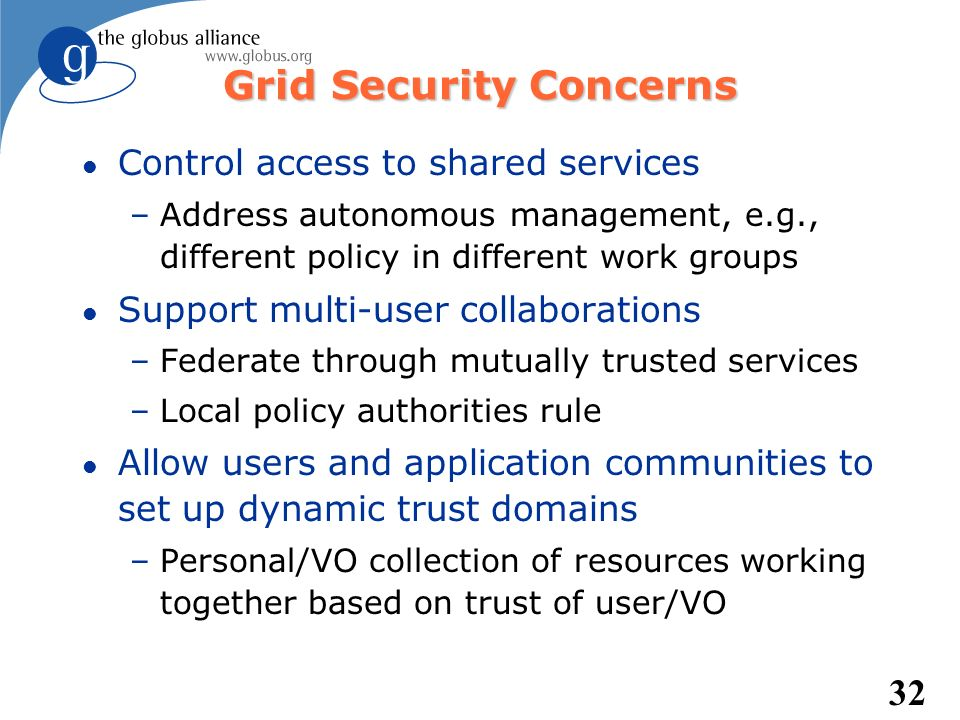Grid Security Concerns