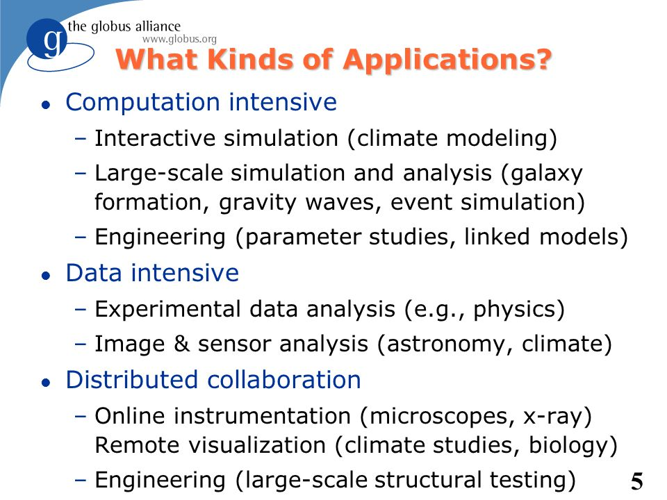 What Kinds of Applications