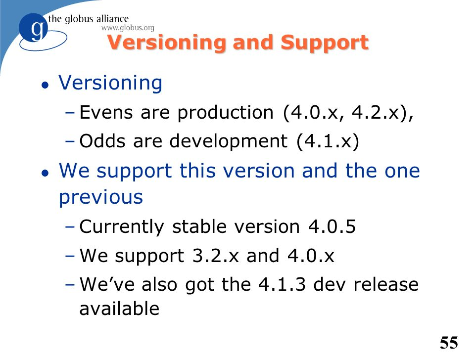 Versioning and Support
