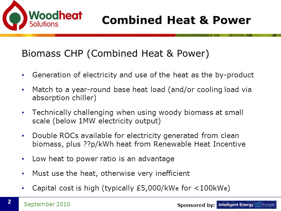 Combined Heat & Power Biomass CHP (Combined Heat & Power)