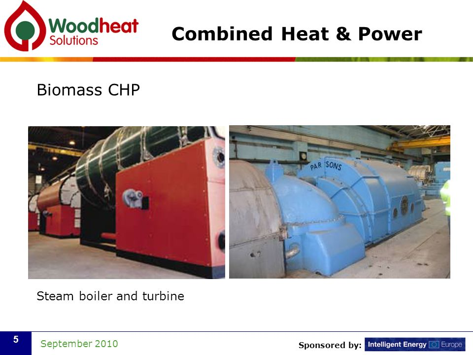 Combined Heat & Power Biomass CHP Steam boiler and turbine
