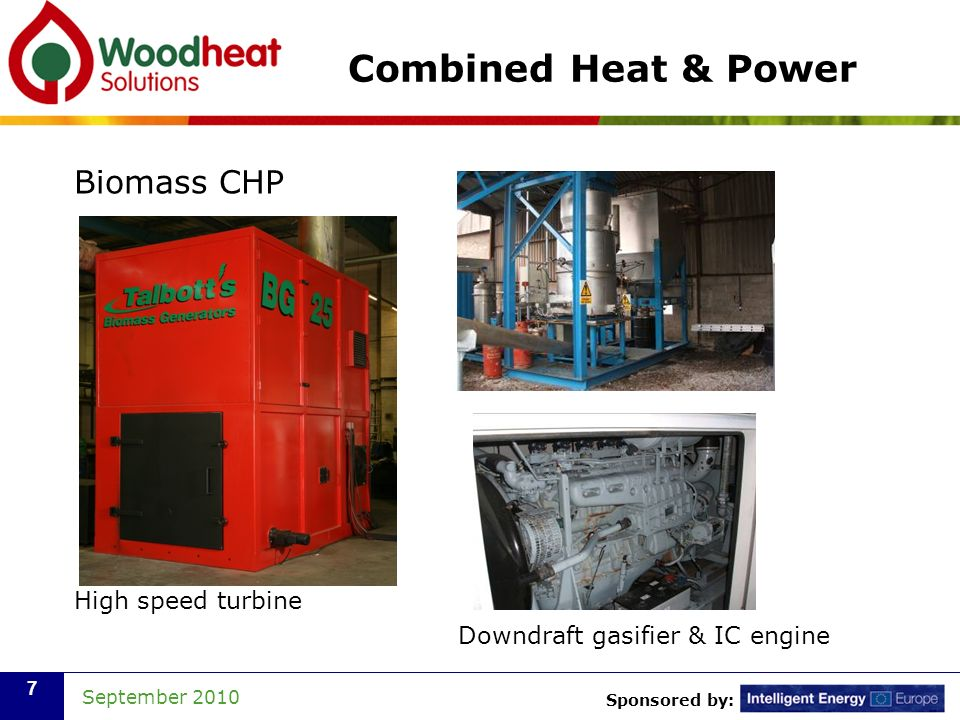 Combined Heat & Power Biomass CHP High speed turbine