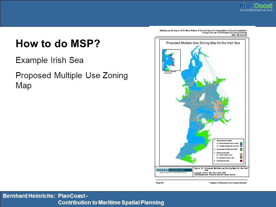How to do MSP Example Irish Sea Proposed Multiple Use Zoning Map