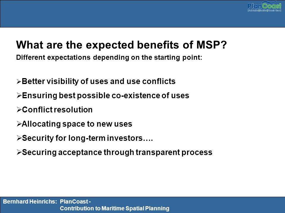 What are the expected benefits of MSP