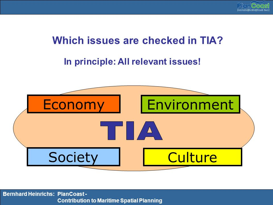 Which issues are checked in TIA In principle: All relevant issues!