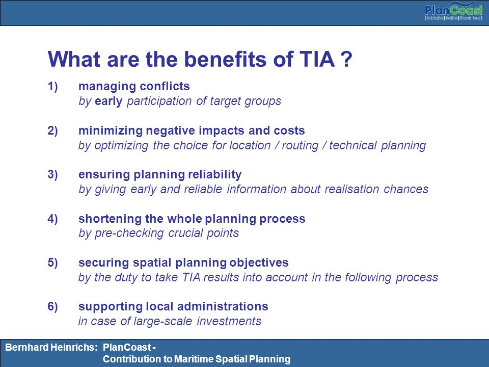 What are the benefits of TIA