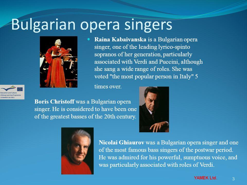 Bulgarian opera singers