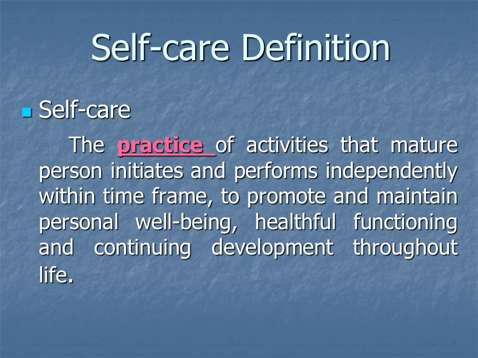 """definition of nursing person Dorothea e orem the self-care the person """"is able to perform or can and should learn to perform orem's definition of health was confined in three static."""