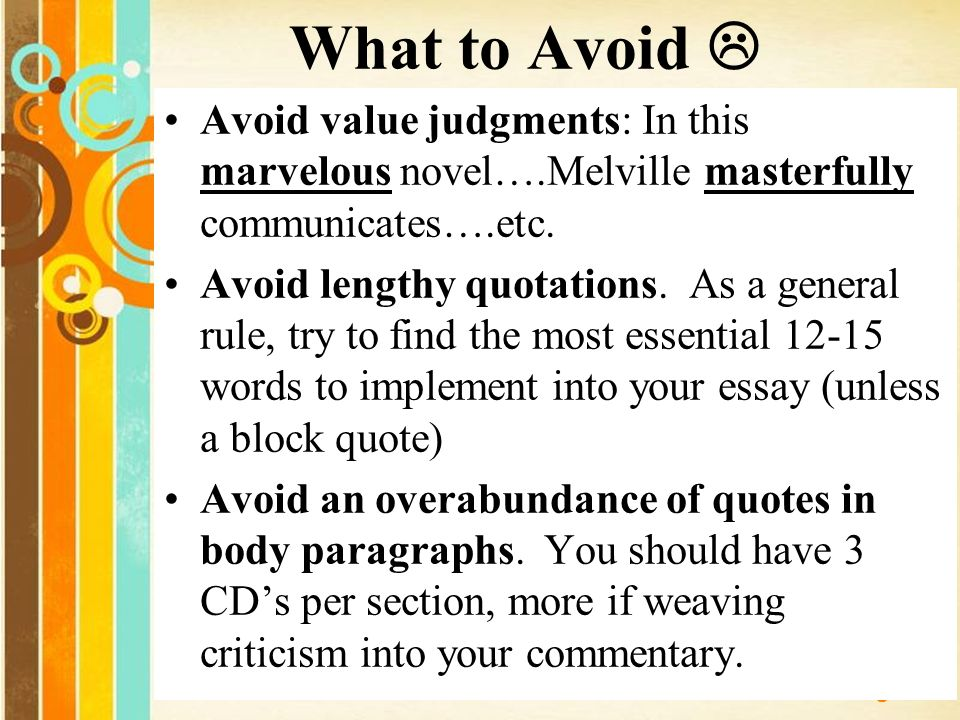 do you indent quotations in an essay Indent longer quotations in a block about ten spaces in from the left margin when a quotation is indented, quotation marks are not used the mla handbook (1995) recommends that indented quotations be double-spaced, but many instructors prefer them single-spaced.