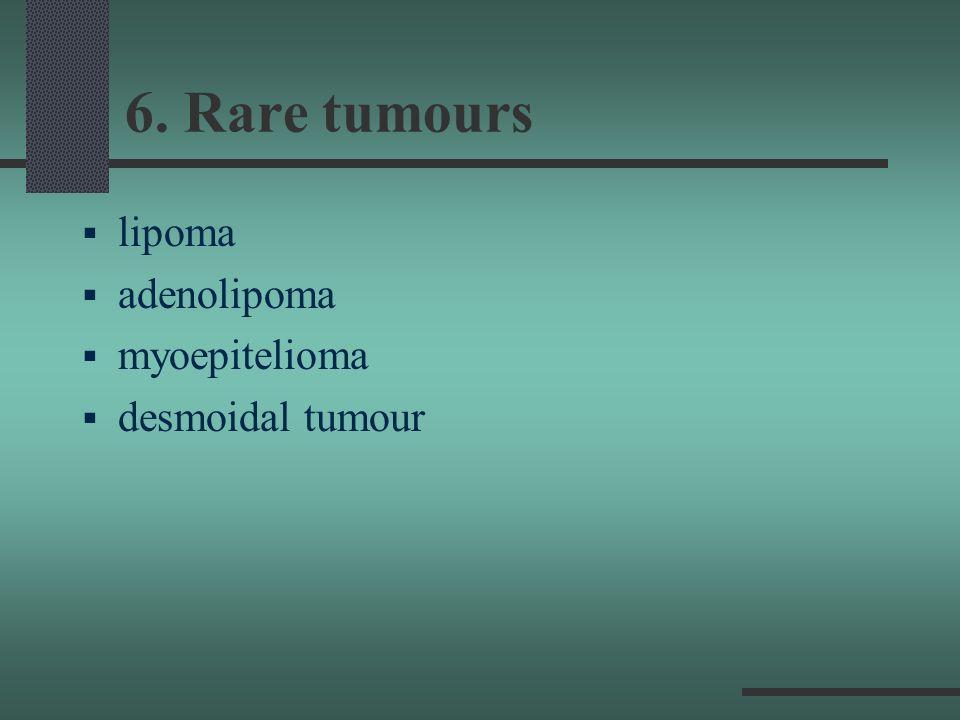 6. Rare tumours lipoma adenolipoma myoepitelioma desmoidal tumour