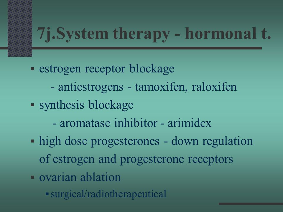 7j.System therapy - hormonal t.