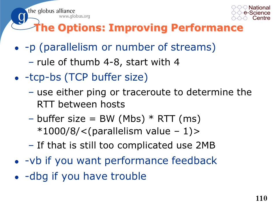The Options: Improving Performance