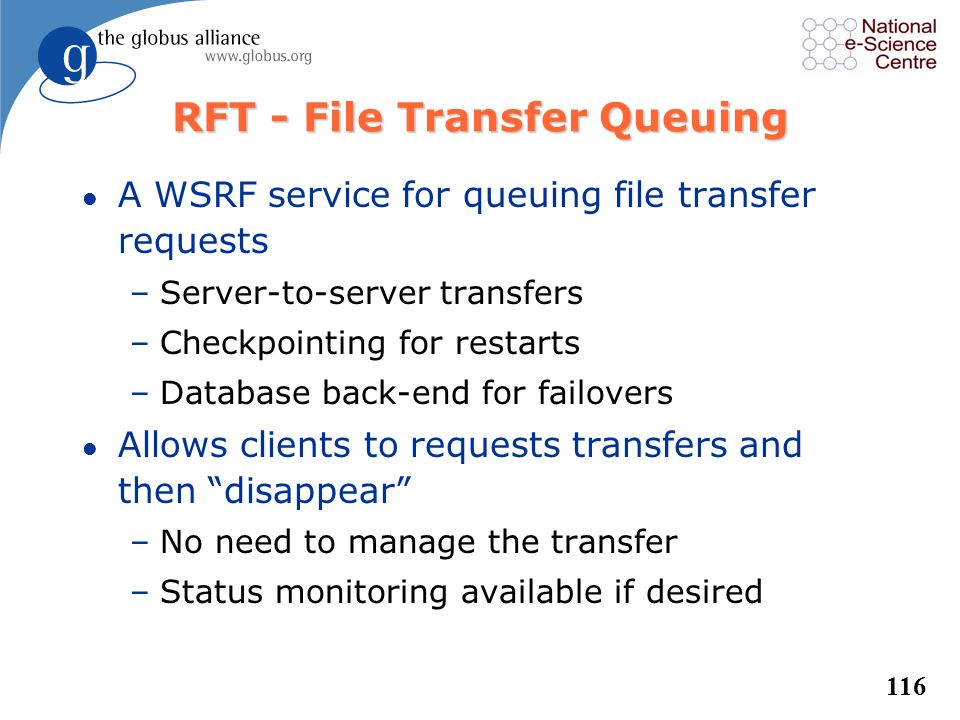 RFT - File Transfer Queuing