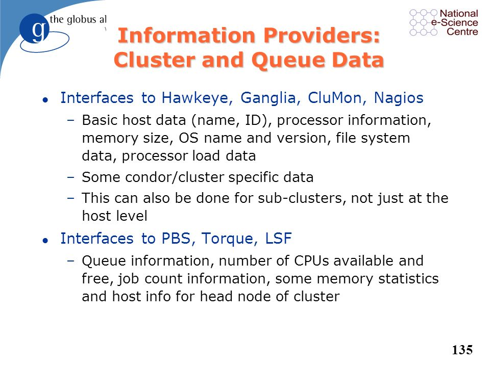 Information Providers: Cluster and Queue Data