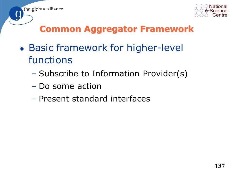 Common Aggregator Framework