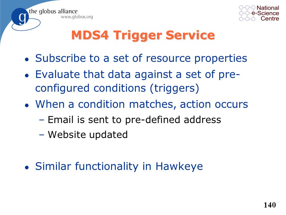 MDS4 Trigger Service Subscribe to a set of resource properties