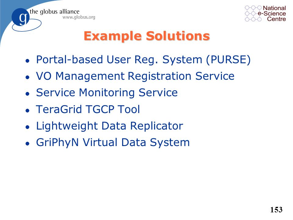Example Solutions Portal-based User Reg. System (PURSE)