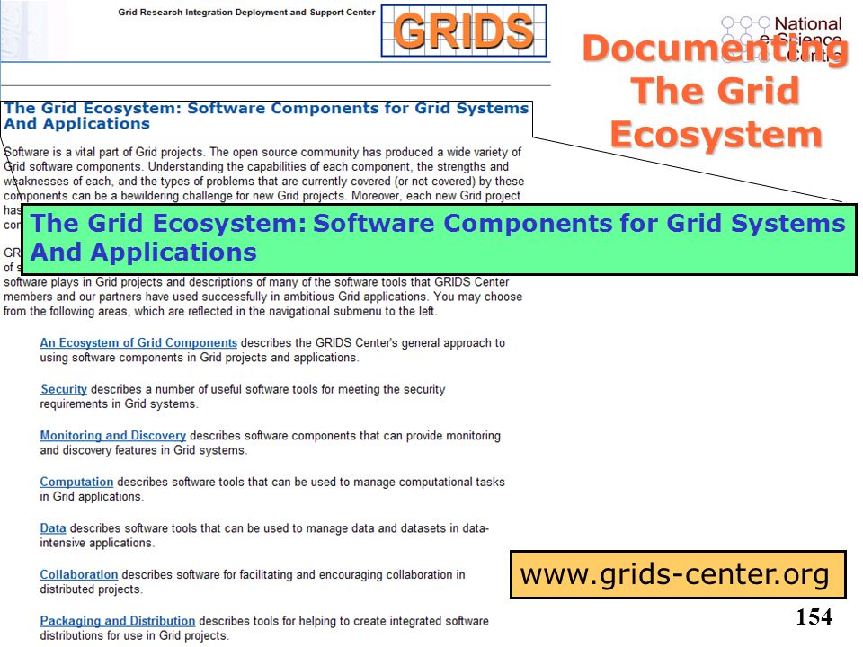 Documenting The Grid Ecosystem