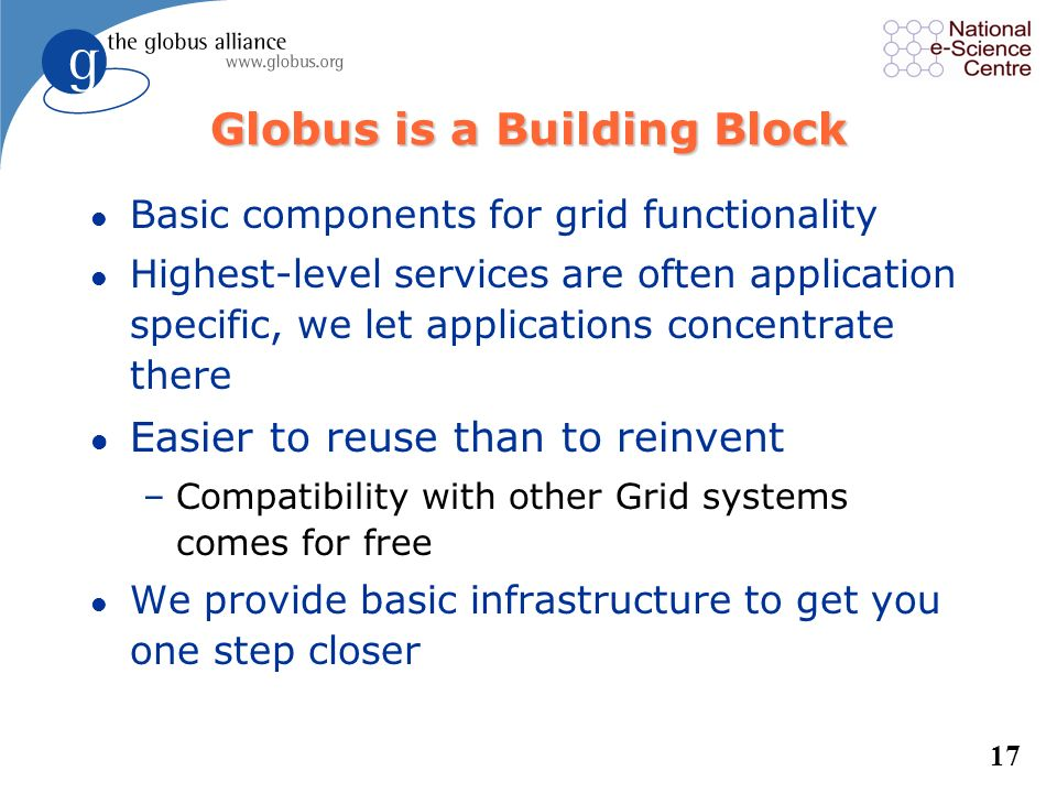 Globus is a Building Block
