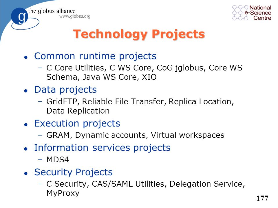 Technology Projects Common runtime projects Data projects